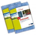 ALCLEAR® 2-er Set Ultra-Microfasertuch 2-SEITEN ALLROUNDER blau 40x40cm 820203U