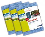 ALCLEAR® 3-er Set Ultra-Microfasertuch 2-SEITEN ALLROUNDER blau 40x40cm 820203U