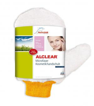 ALCLEAR® Microfaser KOSMETIKHANDSCHUH PEELINGHANDSCHUH weiß  26 x 12 cm 200805