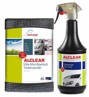 ALCLEAR® Set Auto Glasreiniger mit Abperleffekt 1000ml und TROCKENWUNDER 72113GR