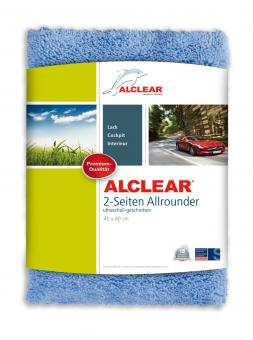 ALCLEAR® Ultra-Microfasertuch 2-SEITEN ALLROUNDER blau 40 x 40 cm 820203U