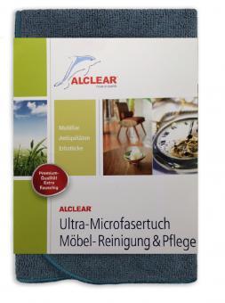 ALCLEAR® Ultra-Microfasertuch MÖBEL-REINIGUNG und PFLEGE anthrazit 40 x 40 cm 820448