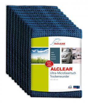 ALCLEAR® 10-er Set Ultra-Microfasertuch TROCKENWUNDER navy 60 x 40 cm 820901