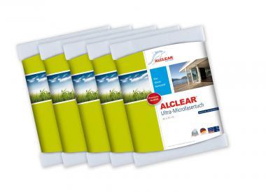 ALCLEAR® 5-er Set Ultra-Microfasertuch WUNDERTUCH weiß 40 x 45 cm 950001