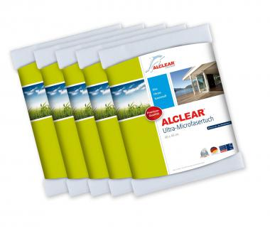 ALCLEAR® 5-er Set Ultra-Microfasertuch WUNDERTUCH weiß 60 x 45 cm 950002