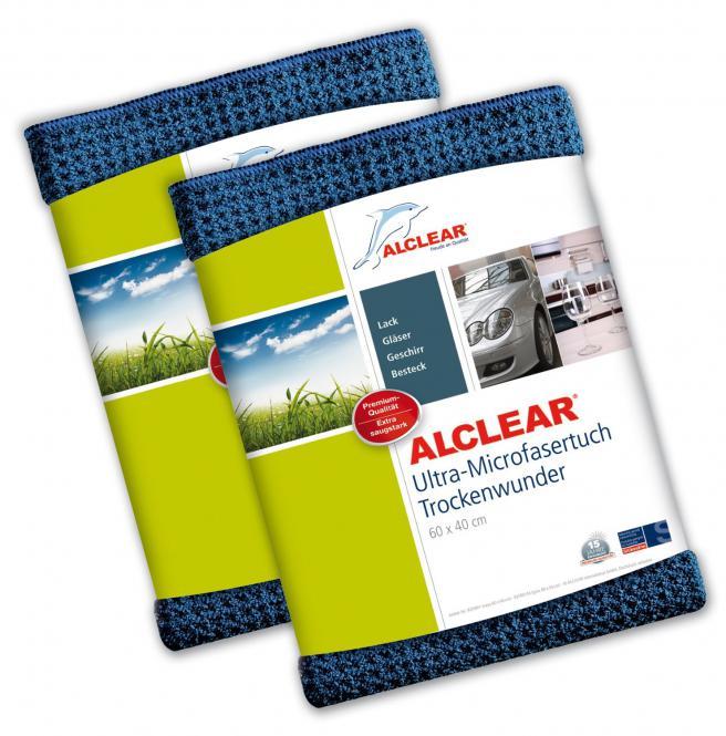ALCLEAR® 2-er Set Ultra-Microfasertuch TROCKENWUNDER navy 60 x 40 cm 820901