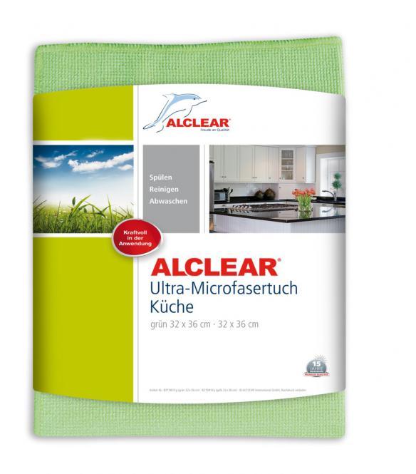 ALCLEAR® Ultra-Microfasertuch KÜCHENTUCH grün 32 x 36 cm 8215810G