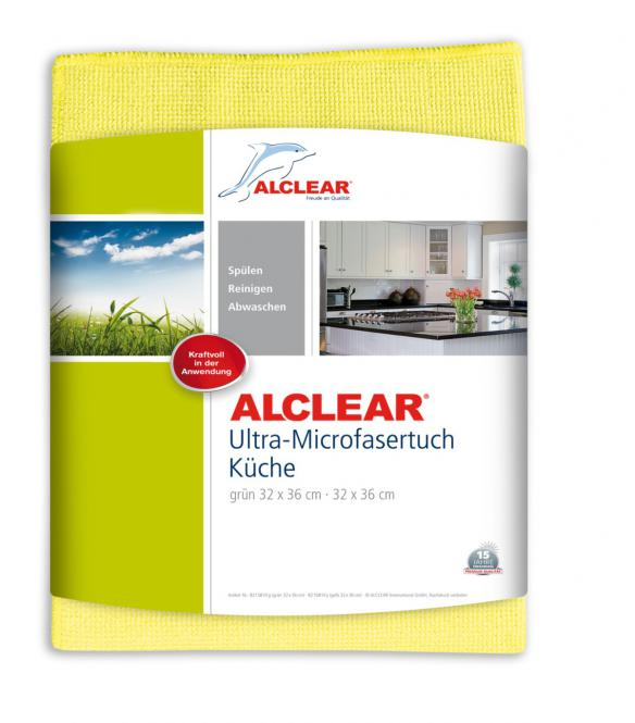 ALCLEAR® Ultra-Microfasertuch KÜCHENTUCH gelb 32 x 36 cm 8215810Y