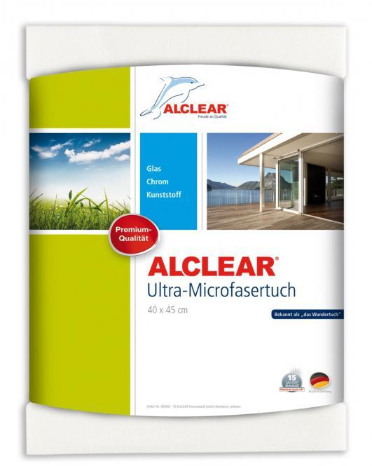 ALCLEAR® Ultra-Microfasertuch FENSTERTUCH WUNDERTUCH weiß 40 x 45 cm 950001