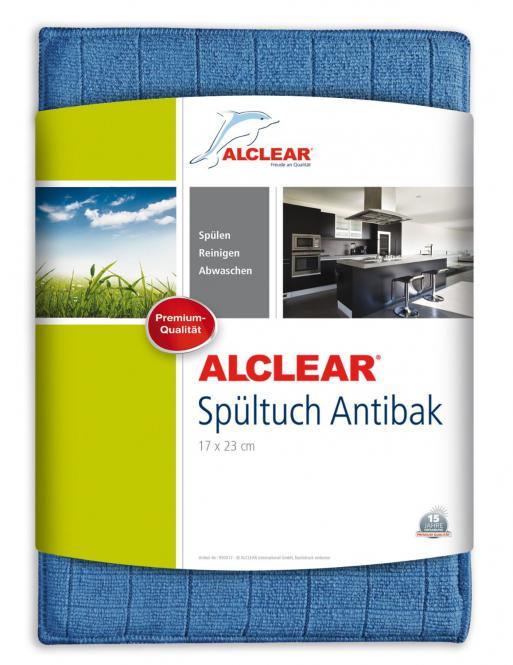 ALCLEAR® Ultra-Microfaser SPÜLTUCH ANTIBAK mit Silberionen blau 17 x 23cm 950017